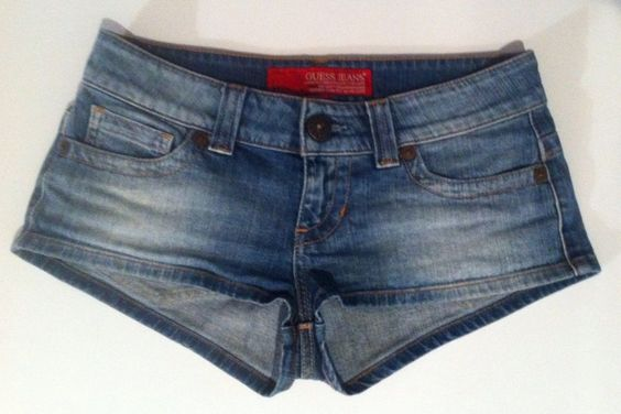 GUESS Low Rise Stretch Denim Jean Shorts! Sexy! Women's Size 28 in (30) #GUESS #MiniShortShorts - SOLD
