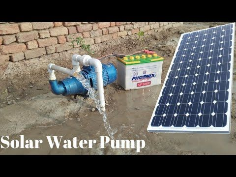 Install Solar Water Pump 12v Solar Pump With 150 Watt Solar Panel With Borewell Drill Complete Steps Youtube Solar Water Pump Solar Panels Solar Power Panels