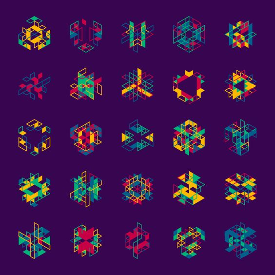 Geometric Shapes / 170107 processing hypeframework hexels generative art creative coding code graphic pattern geometric geometry isometric design http://ift.tt/2jfyIDH