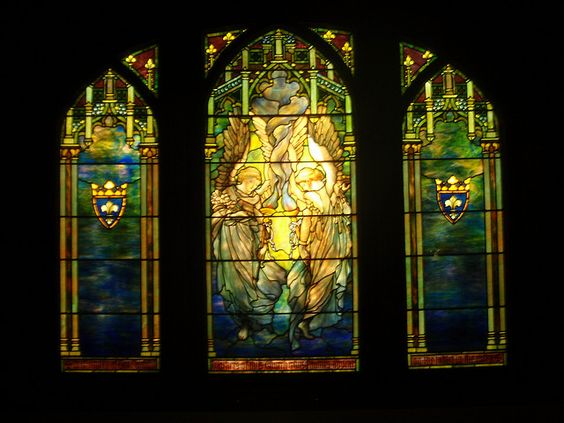"""Tiffany Stained Glass Window """"Ecclestastical Angels"""" c1890 by kinsella5555, via Flickr"""
