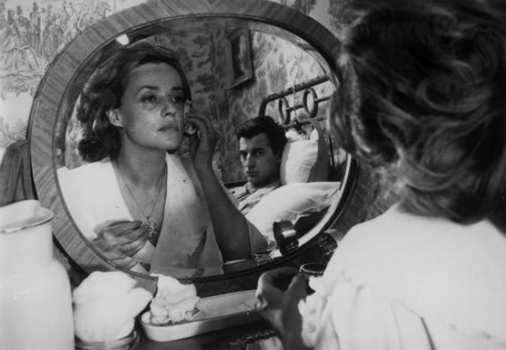 Jeanne Moreau and Henri Serre in Jules and Jim (1962):