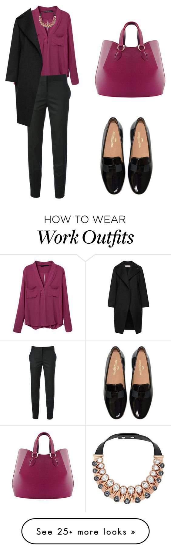"""winter at the office"" by tania-alves on Polyvore featuring moda, STELLA McCARTNEY, Swarovski, Aevha London y Marni:"