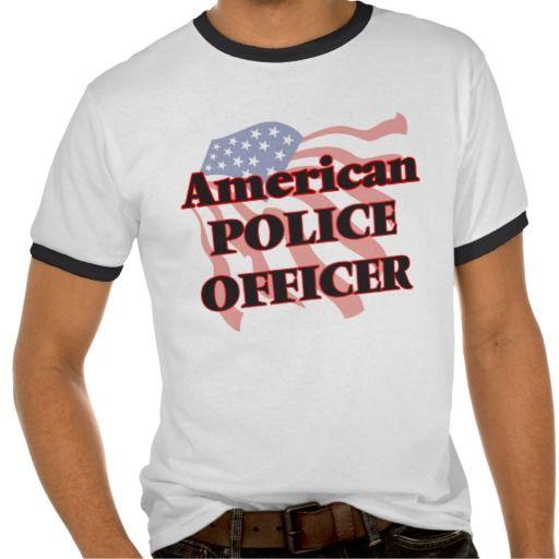 American Police Officer T Shirt, Hoodie Sweatshirt