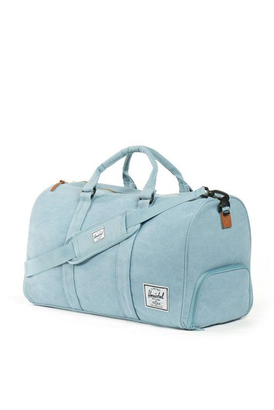 novel heavy canvas duffle bag (grey blue) - Herschel
