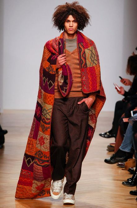 Missoni Men's / FW 2014 / High Fashion / Ethnic  Oriental / Carpet  Kilim  Tiles  Prints  Embroidery Inspiration /