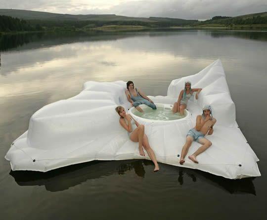 HAHAHAA! floating glacier... :P