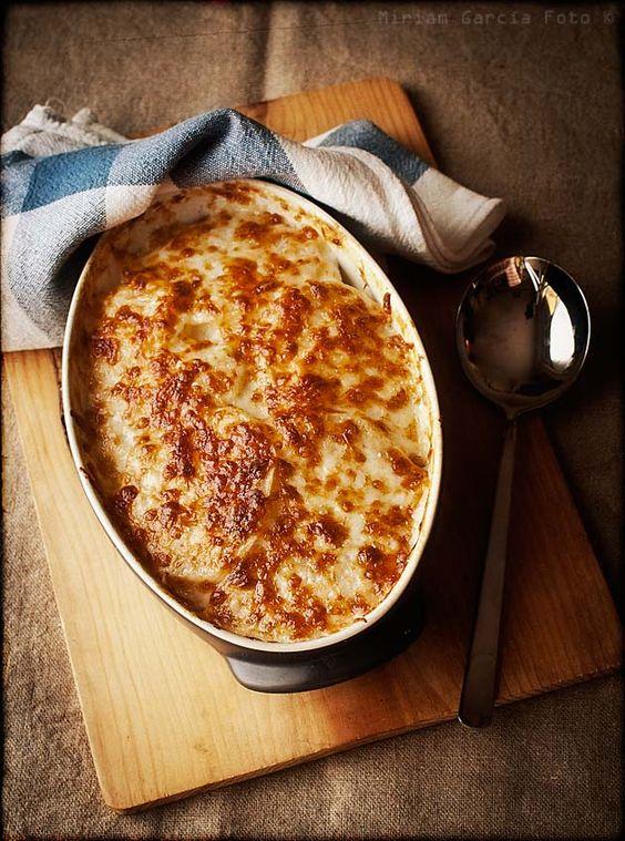 Gratin the winter guest and potatoes on pinterest - Gratinado de patata ...