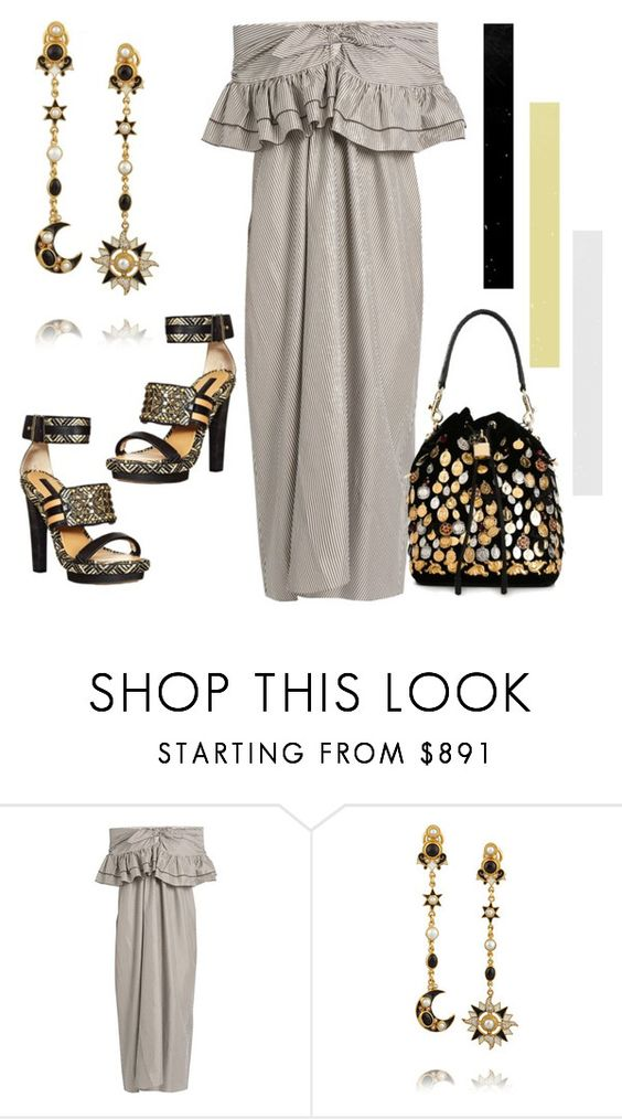 """""""Gold and Silver"""" by engleann ❤ liked on Polyvore featuring Isa Arfen, Diego Percossi Papi and Dolce&Gabbana"""