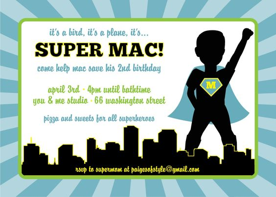 Printable Superhero Birthday Invitation, DIY. $15.00, via Etsy.