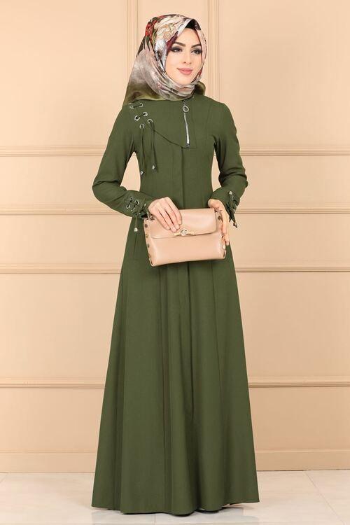 Modaselvim Ferace Dugmeli Cepli Ferace 2149ms212 Haki Model Pakaian Model Pakaian Hijab Pakaian Islami