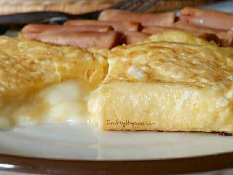 Resep Simple Cheesy Omelete Oleh Indry Hapsari Resep Sarapan Resep Kentang Goreng