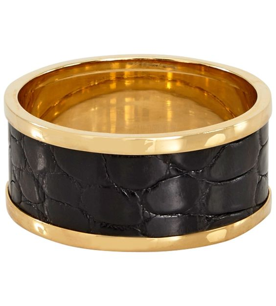 Alexandre Vauthier-Medium Crocodile Leather Bangle