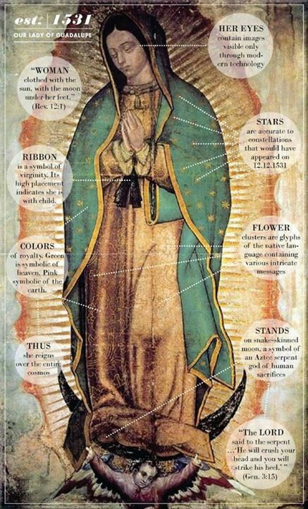 The virgin Mary as she appeared in a vision
