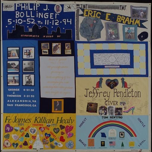 AIDS Quilt Square that my mother-in-law Eileen created for Fr. James Killian Healy