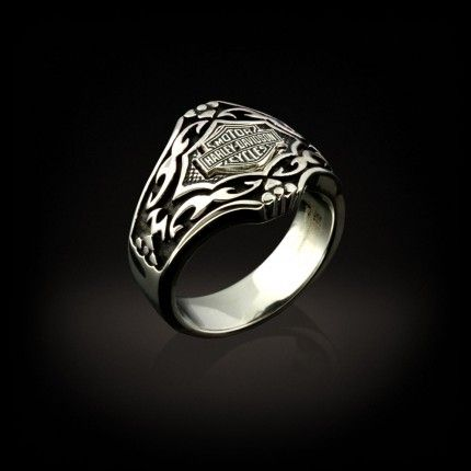 This is a Man's Stainless Steel ring with a Gothic pattern.
