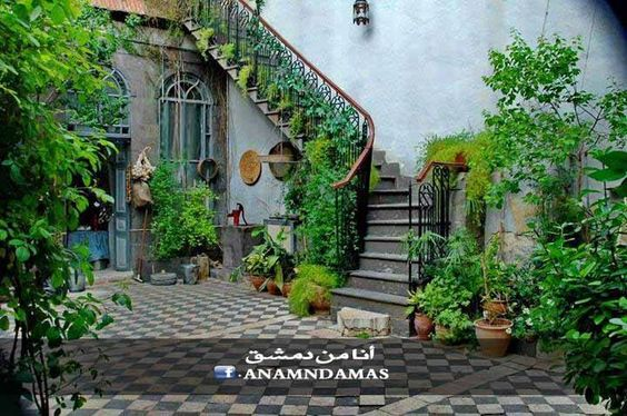 Damascus old houses and gardens on pinterest for The damascus house