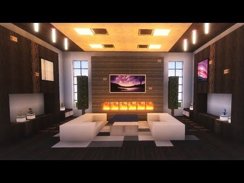 Minecraft Modern Living Room Tutorial Youtube Minecraft Modern Minecraft Bedroom Minecraft Mansion