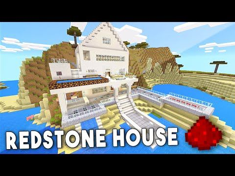 Biggest House In The World 2016 Minecraft mcpe redstone beach house - minecraft pe (pocket edition