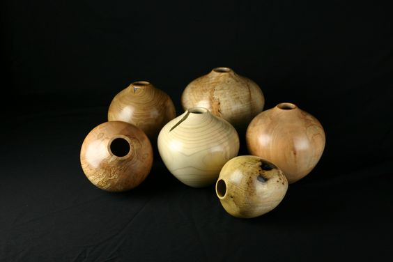 Grouping of turned hollow forms