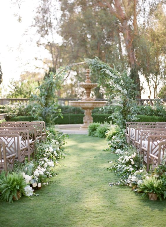Greenery Adorned Wedding Arch