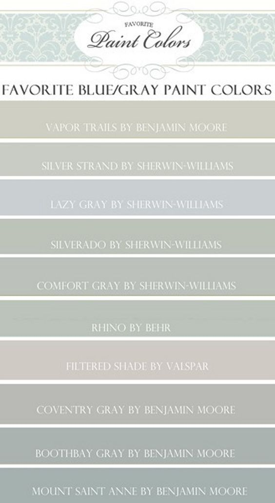 Blue Gray Paint Color Vapor Trails Benjamin Moore Silver Strand Sherwin Williams Lazy Gray