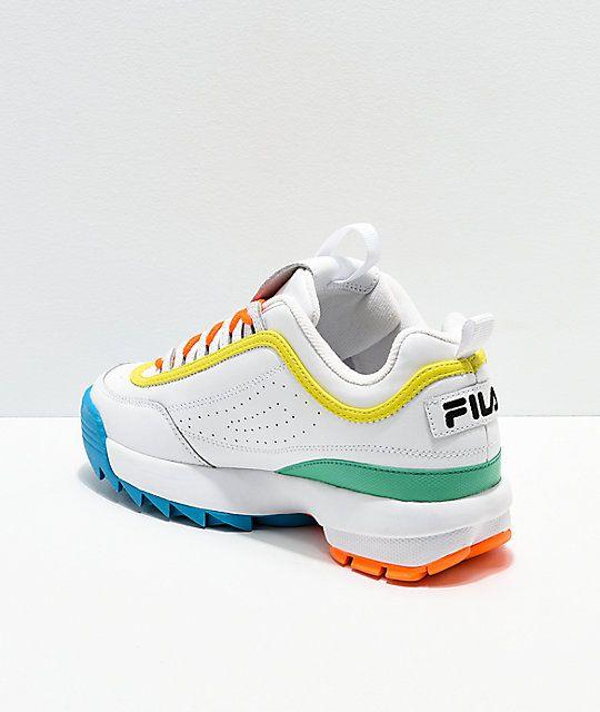 FILA Disruptor Multicolor \u0026 White Shoes