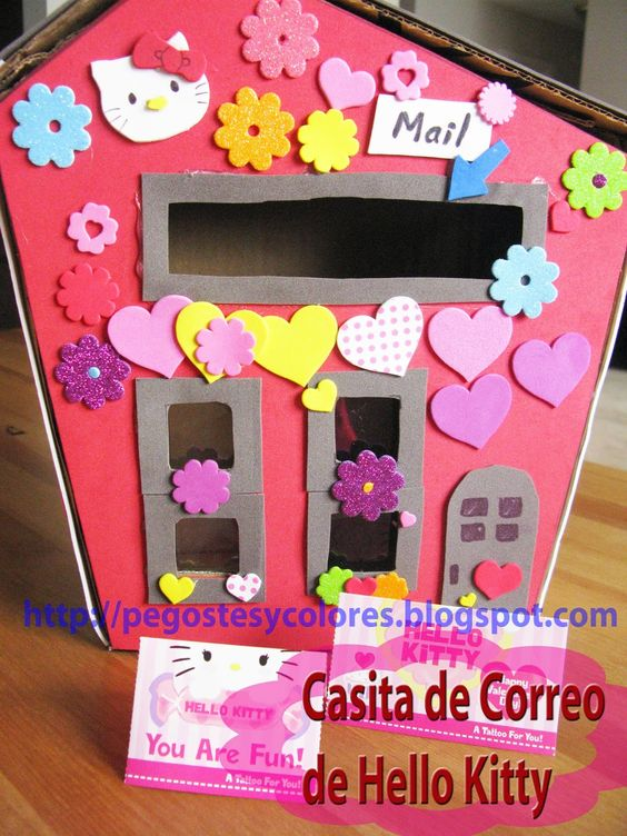 Hello Kitty's Valentine Mail Box - Pegostes y Colores: Casita de Correo de Hello Kitty