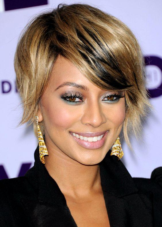 Coiffures pour cheveux courts faciles à recréer: le court asymétrique de Keri Hilson