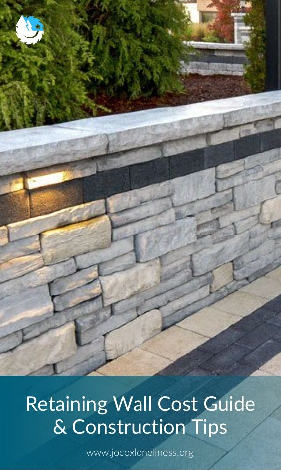 Retaining Wall Cost Guide Construction Tips In 2020 Retaining