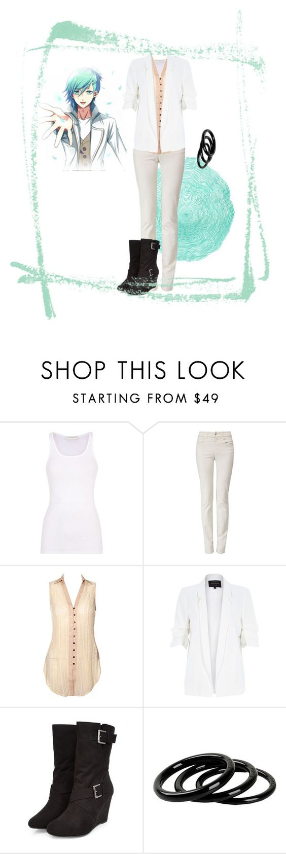 """""""Ai Mikaze Casual Cosplay (2000%)"""" by psychometorzi ❤ liked on Polyvore featuring Faith Connexion, Armani Jeans, River Island and Furla"""