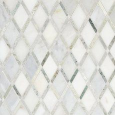 Carrara White Caribbean Green Marble Mosaic Marble Mosaic Green Marble Mosaic