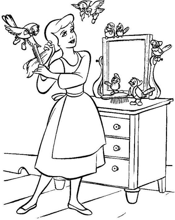 Colorier un dessin de Cendrillon