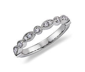 Heirloom Diamond Wedding Ring in 14k White Gold (1/5 ct. tw.)