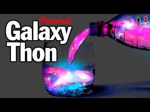 DIY Galaxy-Thon - Man Vs. Pin - Pinterest Test #48 - YouTube