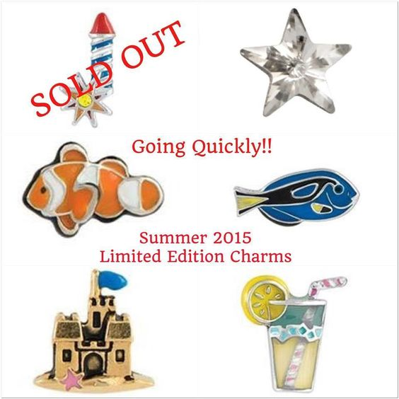 Update on new SUMMER CHARMS.  Limited edition!  www.cathydavis.origamiowl.com
