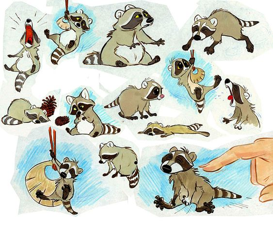 Brother Bear II submitted by Skidd Baby raccoon model sheet.