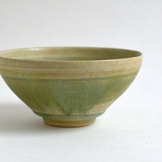 緑釉茶碗01 / Awabiware - nem
