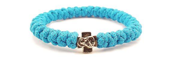 33Knots Ocean Blue Prayer Bracelet