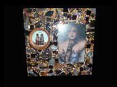 Shimmer... Pretty Little Things Paris theme mixed media mosaic frame