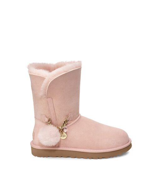 UGG Women's Classic Mini Charms Suede In Quartz, Size 6