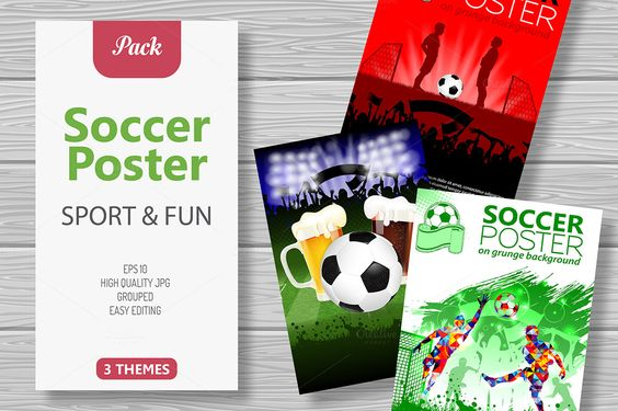 Soccer Posters by TAlex on @creativemarket