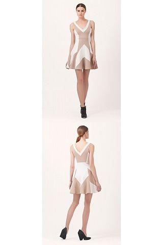 Hale Bob Cinderella Colorblock Dress