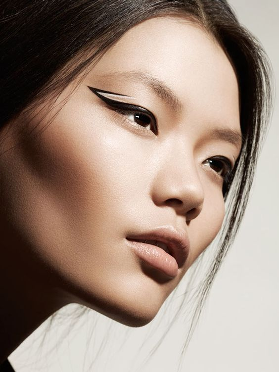 GRAPHIC BEAUTY WITH MODEL SHEN AT WILHELMINA by Thomas MANGIERI, via Behance:
