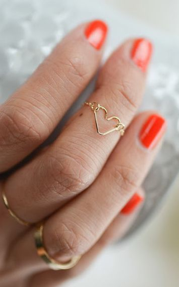 DIY Chain heart ring