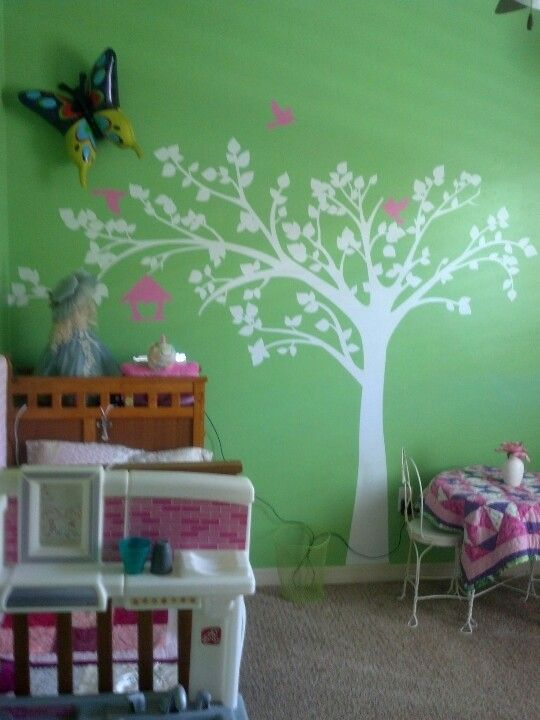 Delcal tree for daughters room.  She kissed it the first time she saw it. Really enjoyed this project.