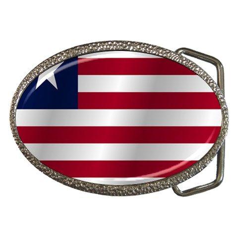 Flag Of Liberia Belt Buckles