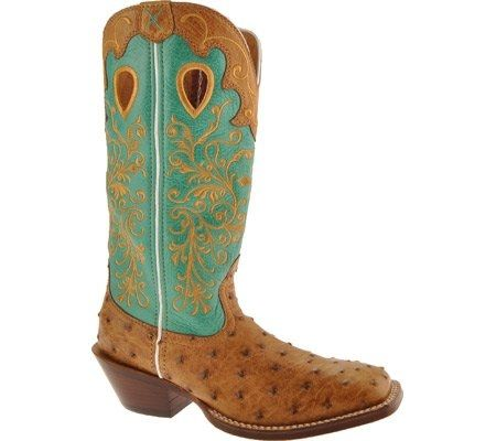 Something blue for the bride! -- Women's Twisted X Boots -- Saddle Full Quill Ostrich/ Aqua | southtexastack.com
