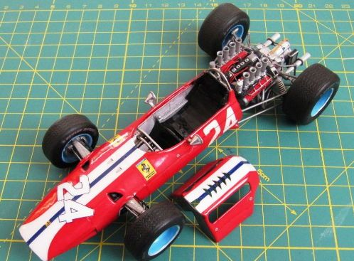 [New Paper Craft] F1 Paper Model – 1965 Ferrari 158 Paper Car Free Vehicle Paper Model Download at PaperCraftSquare.com | Papercraftsquare - free papercraft download