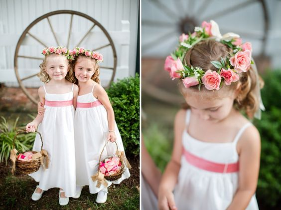 flower girl wreath headpiece