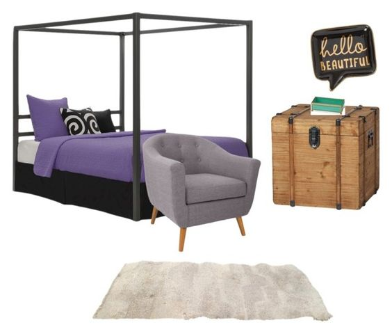"""""""Bored Bedroom"""" by cattie12 ❤ liked on Polyvore featuring interior, interiors, interior design, home, home decor, interior decorating, Dorel, Kate Spade and bedroom"""